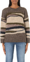 Closed Striped knitted military jumper