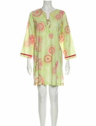 Oscar de la Renta Printed Mini Dress Green