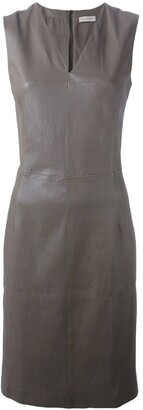 Maison Ullens Fitted Lambskin Dress