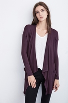 Miguela Thermal Knit Drape Cardigan