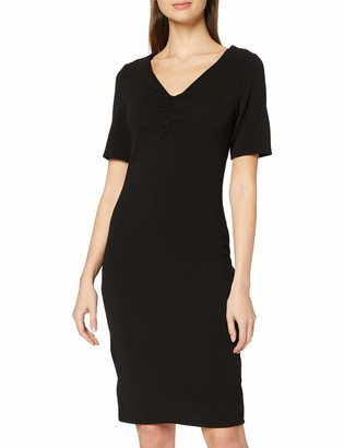 Dorothy Perkins Women's Black Ruched V Neck Bodycon Dress Casual 6