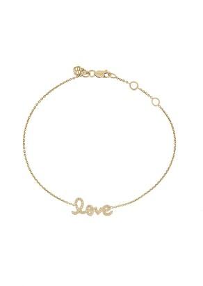 Sydney Evan 14kt Yellow Gold Diamond Love Bracelet
