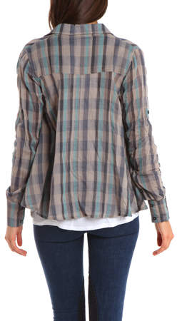 Nicholas K Fergus Shirt in Fog Check