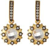 Freida Rothman Two-Tone Rosecut Starburst Drop Earrings