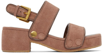 See by Chloe Pink Suede Galy Sandals
