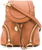 See by Chloe foldover backpack - women - Leather/Cotton - One Size