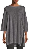 Eileen Fisher Fine Tencel-Alpaca Long Tunic, Plus Size