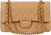 One Kings Lane Vintage Chanel Beige Double-Flap Classic Bag