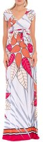 Olian Women's 'Rache' Print Maternity Maxi Dress