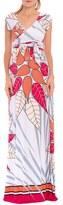Olian Women's 'Rache' Print Maternity Maxi Dress