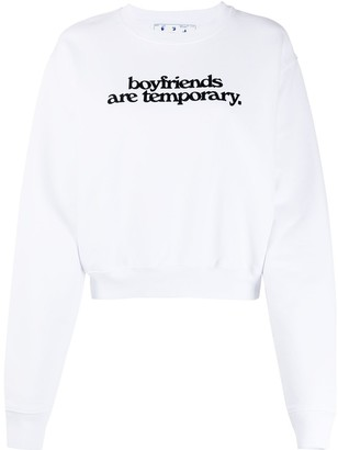 Off-White Boyfriends print cropped sweatshirt