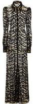 Roberto Cavalli Metallic Embroidered Tulle Dress