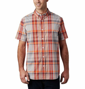 Columbia Men's Rapid Rivers II Short Sleeve Plaid Shirt Comfort Stretch