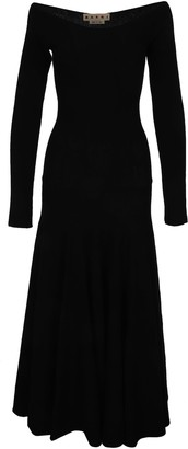Marni Boat-neck Long Knitted Dress