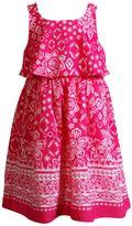 Youngland Girls 4-6x Floral Sleeveless Popover Sundress