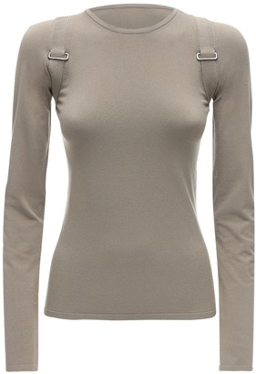 Max Mara Fitted Viscose Knit Top W/ Straps
