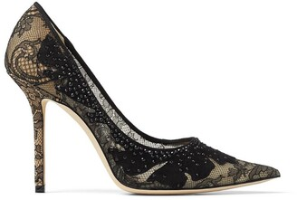 Jimmy Choo Love 100 Embellished Lace Pumps