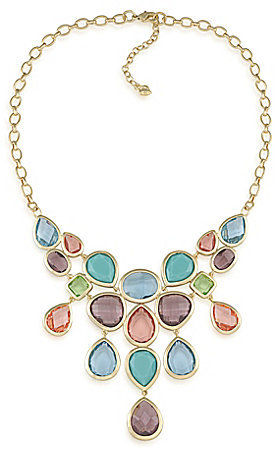 Carolee Candy Colors Dramatic Frontal Bib Necklace