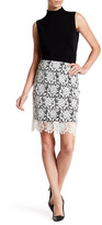 T Tahari Carolina Crochet Skirt