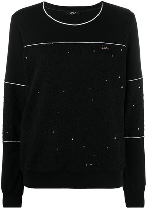 Liu Jo Sequin-Embellished Crew Neck Sweatshirt