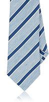 Isaia Men's Striped Silk-Linen Necktie