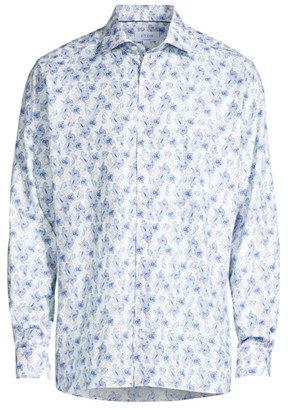 Eton Contemporary-Fit Twill Paisley Sport Shirt