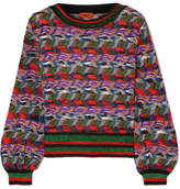Missoni Metallic Crochet-knit Sweater - Purple