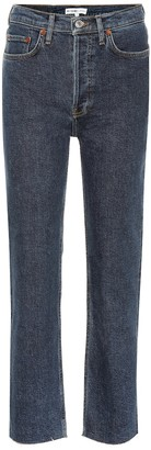 RE/DONE Stovepipe high-rise straight jeans