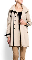 A-line cotton trench
