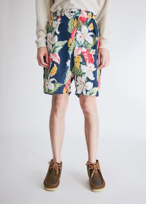 Engineered Garments Men's Sunset Short in Navy Hawaiian Floral, Size Medium