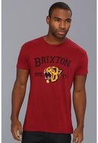 Brixton Harlow S/S T-Shirt (Burgundy) - Apparel