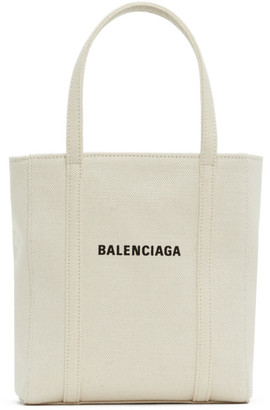 Balenciaga White Canvas XXS Everyday Tote