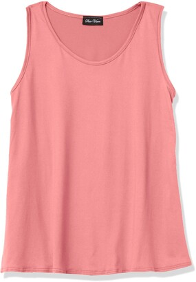 Star Vixen Women's Petite Sleeveless U-Neck Easy Fit Pullover Brushed Knit Top
