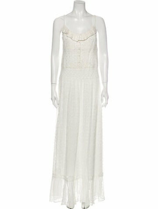 Alice + Olivia Scoop Neck Long Dress w/ Tags White