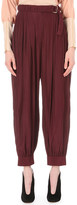 Lanvin Dropped-crotch satin trousers