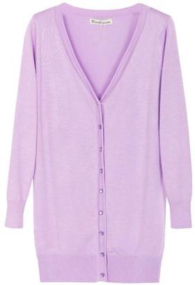 DianShao Women's Casual Lightweight Long Sleeve Top Cardigan Sweater Shawl Outwear Light Purple M