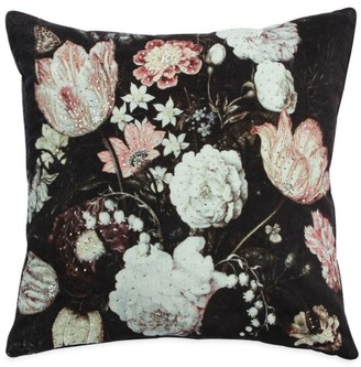 Callisto Home Floral-Print Velvet Pillow