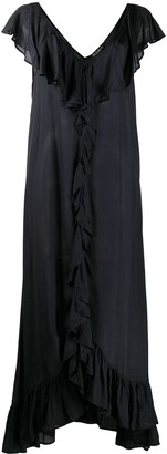 Mes Demoiselles Ruffle Trim Maxi Dress