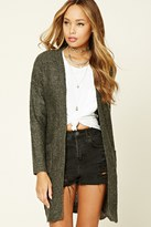 Forever 21 FOREVER 21+ Marled Knit Open-Front Cardigan