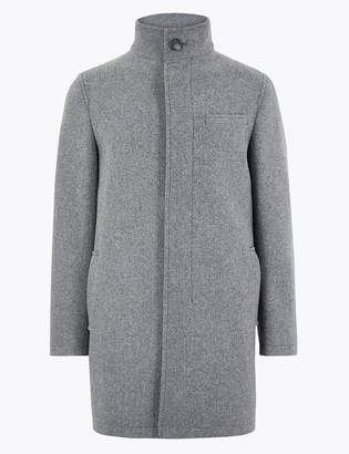 Marks and Spencer Funnel Neck Overcoat