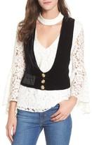 For Love & Lemons Women's Beatrix Velvet Vest