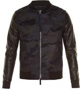 Valentino Camouflage-print Bomber Jacket
