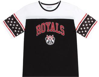 Dolce & Gabbana Kids Embroidered cotton-blend T-shirt