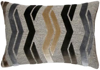 The Piper Collection Paxton 14x20 Lumbar Pillow - Mocha/Gray Velvet