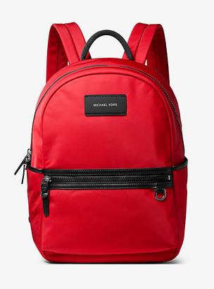 Michael Kors Brooklyn Nylon Gabardine Backpack - Summer Red