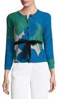 Tracy Reese Cotton Intarsia Tied Cardigan