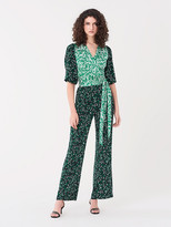 Diane von Furstenberg Blaire Silk Crepe de Chine Jumpsuit