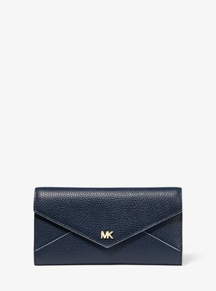 MICHAEL Michael Kors Large Two-Tone Pebbled Leather Envelope Wallet