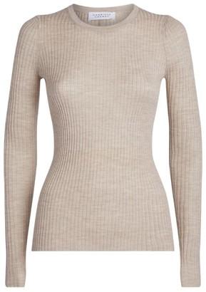 Gabriela Hearst Ribbed Cashmere-Silk Top