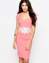 Paper Dolls Pencil Dress With Lace Detail